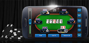 Playing real money mobile poker