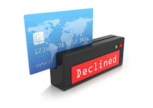 Declined Credit Card